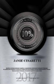 Jamie Cesaretti, MD: Awarded America's Most Honored Professionals 2017 Top 10%