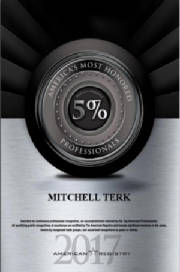 Mitchell Terk, MD: Awarded America's Most Honored Professionals 2017 Top 5%