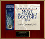 Dr. Cesaretti awarded America's Most Honored Doctors 2020 - Top 10%