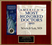 Dr. Mitchell Terk - America's Most Honored Doctors 2020 - Top 10%