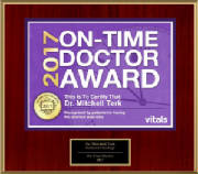 Mitchell Terk, MD: Awarded Vital's On-Time Physician Award 2017