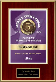Patients Choice 5 Year Honoree 2019, Mitchell Terk, MD