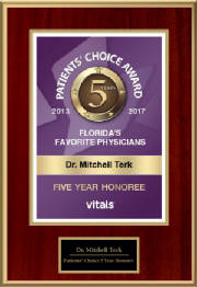 Mitchell Terk, MD: Awarded Vital's Patience Choice 5 Year Honoree 2017