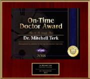 Vitals Patients Choice - On-Time Physician Award - 2018 - Dr. Mitchell Terk