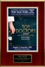 Jamie Cesaretti, MD Awarded Castle Connolly's 2016 Top Doctors Metro Area Jacksonville Award