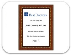 Jamie Cesaretti, MD - Best Doctor Award 2013